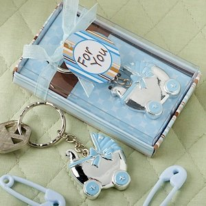 Blue Baby Carriage Keychain Favors image