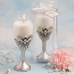 Angel Champagne Flute Candle Holders image