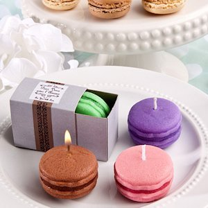 Trendy Macaron Candle Party Favors image