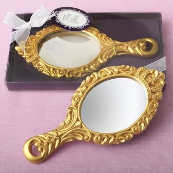Gold 'Make It Royal' Princess Hand Mirror image