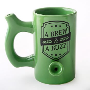 A Brew and a Buzz Green Beer Mug image