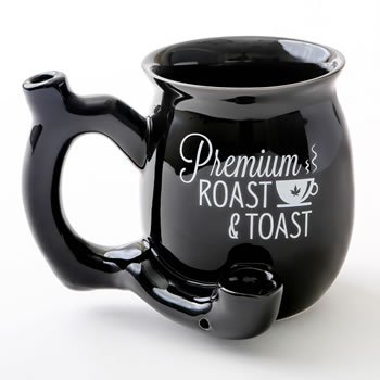 Premium Roast & Toast Shiny Black Single Wall Mug image