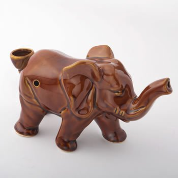 Sienna Color Elephant Novelty Pipe image
