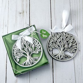 Tree of Life pewter finish hanging ornament image