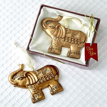 Gold Good Luck Elephant ornament image