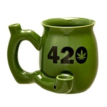420 Mug - Green Mug with Black 420 image