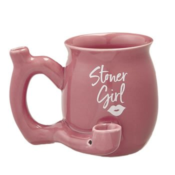Stoner girl pink with white imprint mug - roast and toast mu image