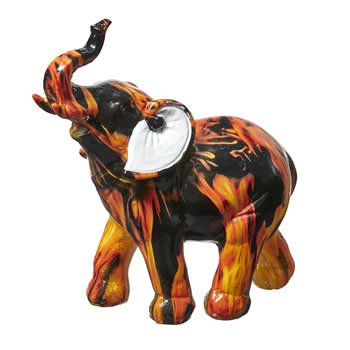 Flame Design Medium Elephant image