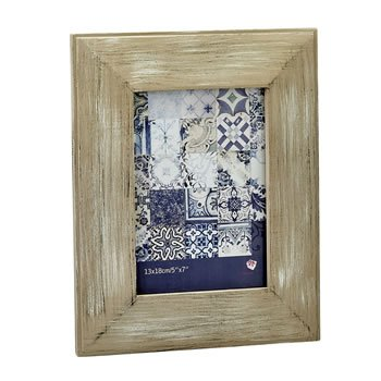 Distressed wood wide border 5x7 frame image