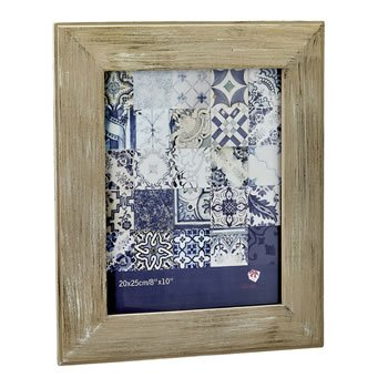 Distressed wood wide border 8x10 frame image
