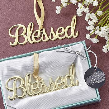Gold Blessed ornament image