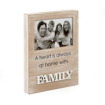 family wood frame - distressed wood finish image
