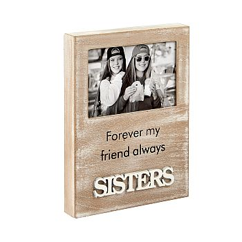 sisters wood frame - distressed wood finish image