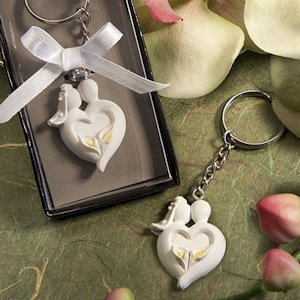 Enchanting Bride and Groom Keychains image