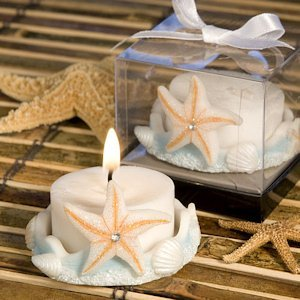 Blue Base Starfish Design Candle Favor image