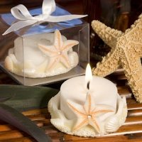 Natural Base Starfish Candle Favor