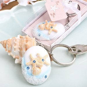 Beach Themed Key Chain Favors image