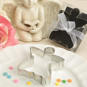 Delighful Angel Shaped Metal Cookie Cutter Favor image