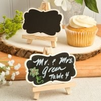 Natural Wood Easel & Blackboard Placecard Holder