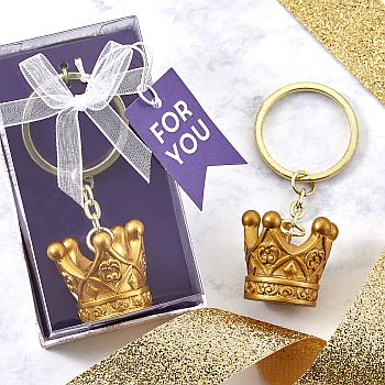 Make it Royal Collection Gold Crown keychain image