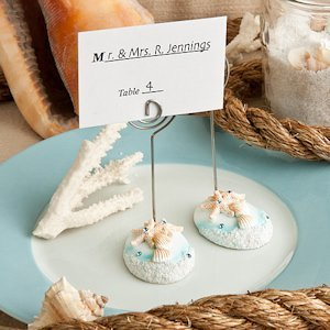 Life's a Beach Themed Wire Place Card Holders image