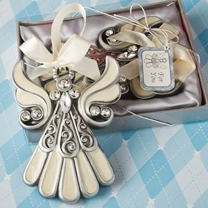 Divine Angel Ornament with Enamel Inlay image