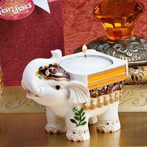 Good Luck Elephant Candle Holders image