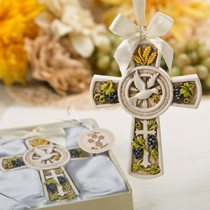 Holy Nature's Harvest Theme Cross Ornament image