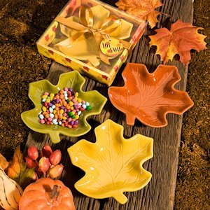 Autumn Magic Leaf Candy Dish Favors image