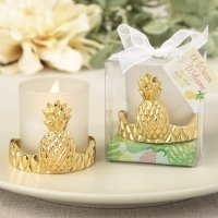 Pineapple Design Votive Candle Holder Favors
