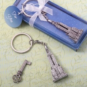 Empire State Building Skyscrapers Keychain Favor image