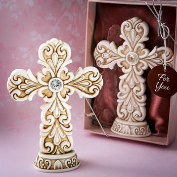 Exquisite Baroque Design Cross Statue Favor image