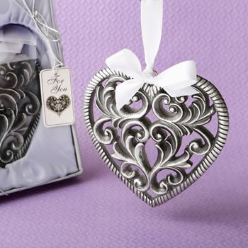 Love Themed Ornate Heart Shaped Ornament image