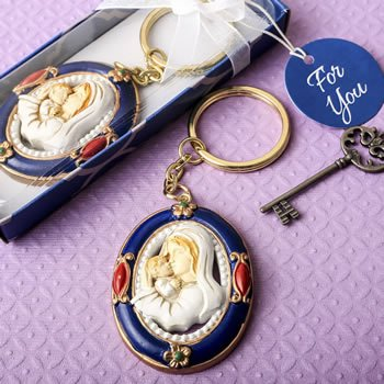 Madonna and Child Ornate Key Chain image