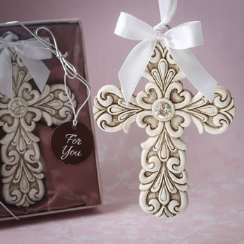 Baroque Design Vintage Cross Themed Ornament Favor image