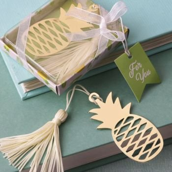 Warm Welcome Pineapple Bookmark Favor image