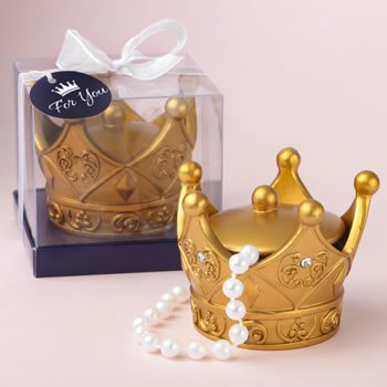 Make it Royal Gold Crown Trinket Box with Cover image