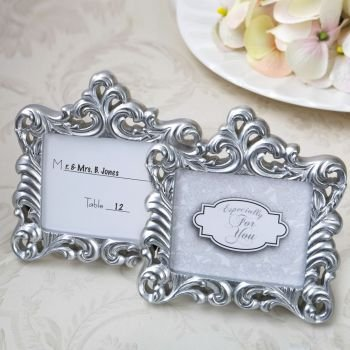 Baroque Pearl Silver Frame Favors image