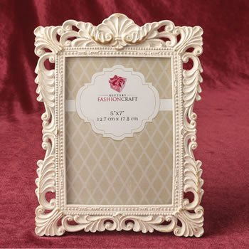 Antique Ivory Brushed Gold Leaf 5 x 7 Frame image