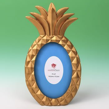 Gold Pineapple Shaped 4x6 Frame image