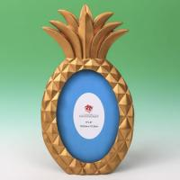 Gold Pineapple Shaped 4x6 Frame