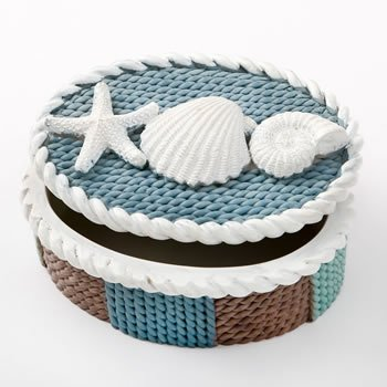 Knit Style Beach Trinket Box Favor image
