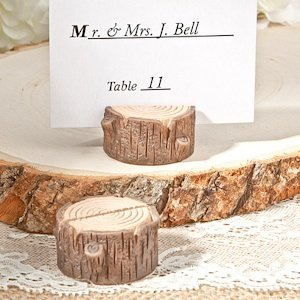 Little Stump Rustic Place Card Holder image