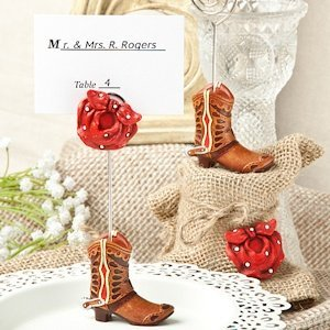 Cowboy Boot Place Card Holder Favors image
