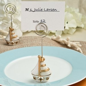 Vintage Sail Boat Theme Place Card Holders image