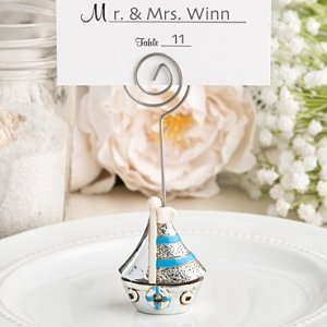 Nautical Theme Sail Boat Placecard Holders image