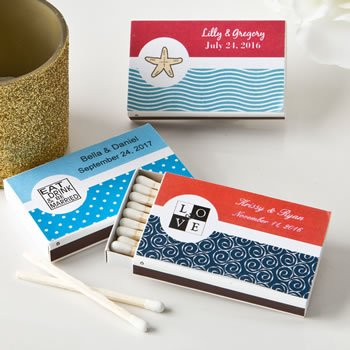Personalized Wedding Design Matchbox Favors (Pack of 50) image