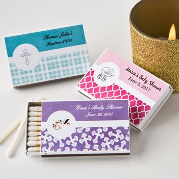 Personalized Baby Design Matchbox Favors (Pack of 50) image