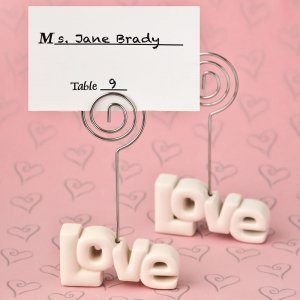 Love Theme Placecard Holder Favors image