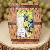 Wine Barrel Themed Place Card Frame Favors